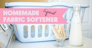 homemade liquid fabric softener recipe