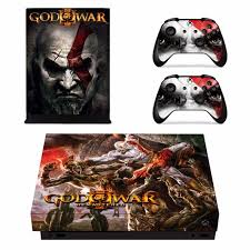 Game God Of War Skin Sticker For Microsoft Xbox One X Console And 2 Controllers For Xbox One X Skins Sticker Vinyl Consoleskins Co