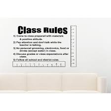 Shop Classroom Rules Quote Wall Art Sticker Decal Overstock 11604272
