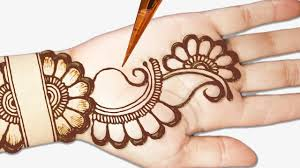 Front Right Hand Front Simple Attractive Mehandi Design