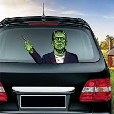 Amazon Com Miysneirn Rear Wiper Decals For Vehicles Tag Halloween Frankenstein Swing Waving Arm 3d Horror Rear Window Wiper Sticker Waterproof Vinyl Car Decals Halloween Scary Rear Wiper Vehicle Tag Decor Automotive