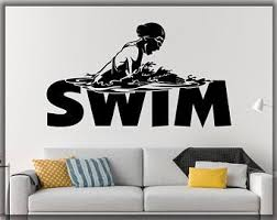 Swimming Wall Decal Etsy
