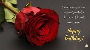 happy birthday for your wife romantic