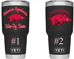 Arkansas Drink Ware Decal Drink Ware Decal Arkansas Tumbler Decal Razorback Decal Razor Tumbler Decal Custom Yeti Cup Yeti Cup Designs Arkansas Razorbacks