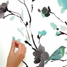 Blossom Watercolor Bird Branch Wall Decals Roommates Decor