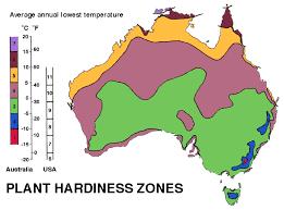 plant hardiness zones for australia