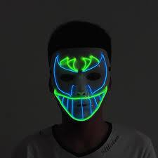 led light up carnival masks neon maska