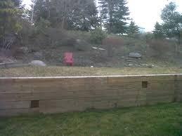 retaining wall rebuild landscaping