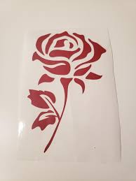 Valentine S Day Gift Red Rose Vinyl Decal Vinyl Decals Vinyl Red Roses