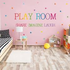 Play Room Inspirational Saying Quotes Diy Removable Wall Stickers Decals Mural Living Room Home Decor Cool Wall Stickers Create Wall Decals From Kity12 1 01 Dhgate Com