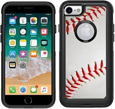 Amazon Com Teleskins Protective Designer Vinyl Skin Decals Compatible With Otterbox Commuter Iphone 7 Iphone 8 Case Baseball Design Pattern Only Skins And Not Case