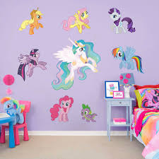 Home Garden Home Decor My Little Pony Adhesive Wallpaper Backdrop Feature Wall Mural Decal Large Print Decals Stickers Vinyl Art Home Decor