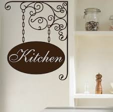 Personalized Hanging Sign Wall Decal Paris Wall Decals Custom Name Wallpaper Custom Wall Signs Pantry Decals Trendywalldesigns