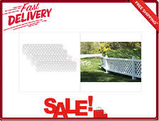 Weather Resistant White 16 In X 4 Ft Modular Vinyl Fence Topper Extension Kit For Sale Online Ebay