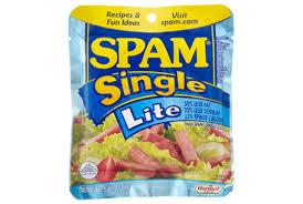 spam single lite individual lite meals