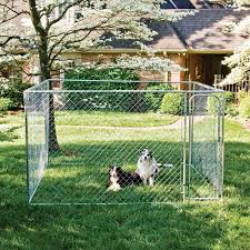 Chain Link 7 5 Ft X 7 5 Ft X 4 Ft Dog Boxed Kennel Outdoor Easy Assembly