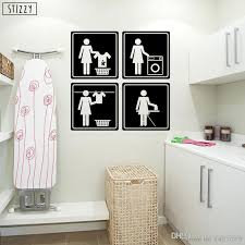 Wall Decal Special Design Laundry Room Logo Vinyl Wall Sticker Decor Modern Clothesline Home Decals Window Art Mural Room Stickers Decorations Room Stickers For Kids From Joystickers 11 85 Dhgate Com