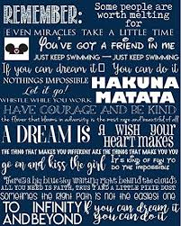 com favorite disney quotes disney art canvas typography