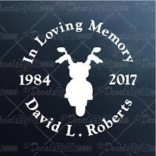 In Memory Motorcycle Decal In Memory Motorcycle Car Sticker Fast Shipping