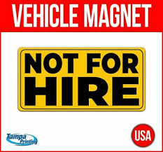 2x Large Not For Hire Truck Sign Sticker 24 X 4 Dot Non Com 16 99 Picclick