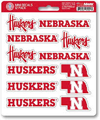 Amazon Com Fanmats Promark Ncaa Nebraska Cornhuskers Decal Set Mini 12 Pack Team Color One Size Sports Outdoors