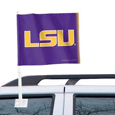 Lsu Tigers Wincraft 12 X 15 Double Sided Car Flag