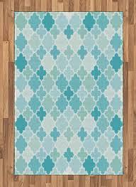 com lunarable teal area rug