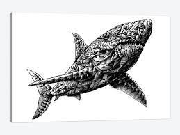 Great White Shark Canvas Print By Bioworkz Icanvas
