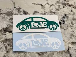 Vw Beetle Decal Green Volkswagen Bug Decals Volkswagen Car Etsy