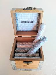 The Date Night Scroll Box - 18 unique and creative date night ideas in a  wood box. Great gift for him!