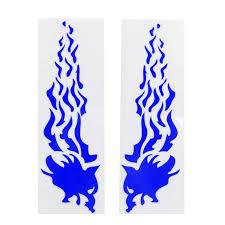 2pcs Blue Flame Pattern Reflective Sticker Decorative For Motorcycle Car Walmart Com Walmart Com