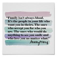 family isn t always blood quote poster com
