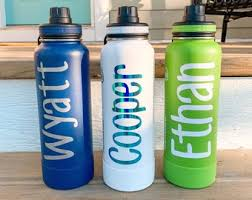 Water Bottle Decal Etsy