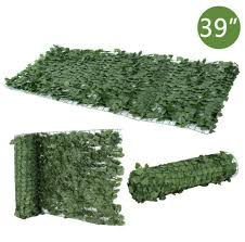 Artificial Faux Ivy Leaf Privacy Fence Screen Windscreen Single Side Expandable For Sale Online Ebay