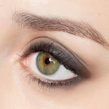 best makeup colors for green grey eyes