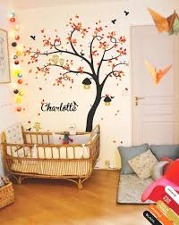 Large Tree Wall Decal With Personalized Name Wall Stickers With Birdhouses And Owls Nursery Wall Mural Sticker Wall Tattoo Jw209 Tree Wall Decal Large Tree Wall Decalname Wall Decals Aliexpress