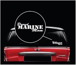 Proud Marine Mom Usmc Military Window Decal Stickers Custom Sticker Shop