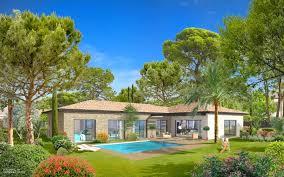 villa neuve de plain pied avec piscine