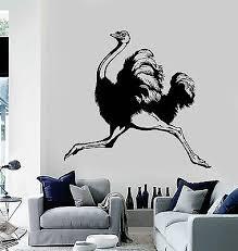 Vinyl Wall Decal Ostrich Animal Room Decoration Stickers Murals Ig4758 Ebay