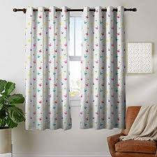 Amazon Com Blackout Curtains Swan Rainbow Colored Cute Swans Pattern Birds Wings Themed Nursery Kids Artistic Print Multicolor Insulating Room Darkening Blackout Drapes For Bedroom 42 X63 Home Kitchen