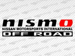 Nissan Nismo Off Road Decal Stickres