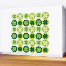 Lucky Irish Four Leaf Clovers Polka Dot Pattern Wall Mural By Sonyadehart Society6