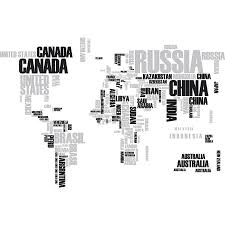 Shop Textual World Map Wall Decals Overstock 16391588