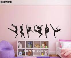 Rhythmic Gymnastics Gymnast Girls Females Wall Art Stickers Wall Decals Home Diy Decoration Removable Room Decor Wall Stickers Wall Stickers Aliexpress