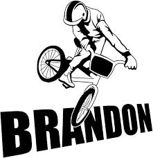 Amazon Com Bmx Bike Bikers Wall Room Personalized Custom Boy Name Vinyl Wall Decal Sticker X Large 27 X 27 Home Kitchen
