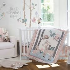 Levtex Baby Night Owl Crib Bedding Collection In Pink Grey Buybuy Baby