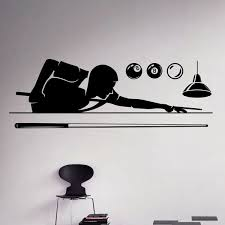 Billiard Pool Wall Decal Poolroom Hobby Vinyl Sticker Sport Art Decor Home Interior Removable Posters On The Wall Wallpaper Wish