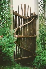 rustic gate from driftwood great