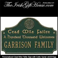 personalized irish gift