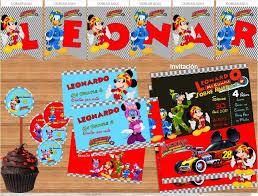Kit Imprimible Mickey Aventuras Sobre Ruedas Editable En 2020 Con